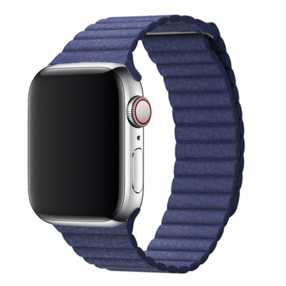 Leather Loop Apple Watch Strap (Ocean Blue)