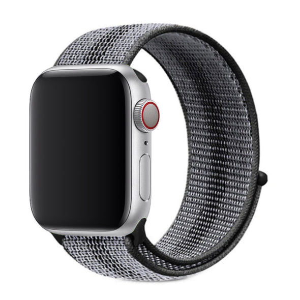 Nylon Apple Watch Strap - (Simple Black/Gray)
