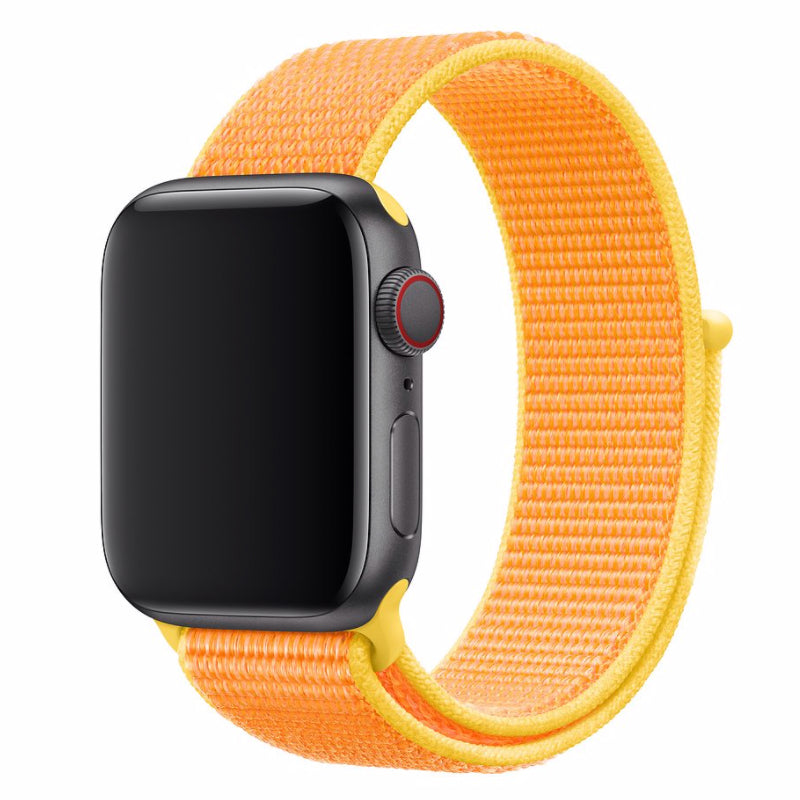 Nylon Apple Watch Strap - (Sunkissed Orange)