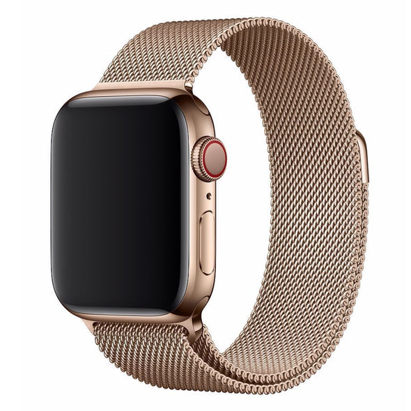 Stainless Steel Apple Watch Strap - (Vintage Gold)
