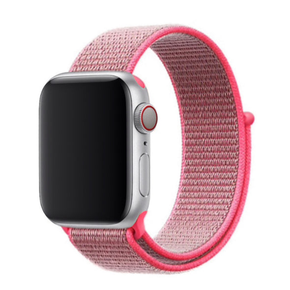 Nylon Apple Watch Strap - (Hot Pink Coral)