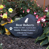"Flagstone Personalized Pet Memorial - 16"" to 24"" - Kelegant Studios"