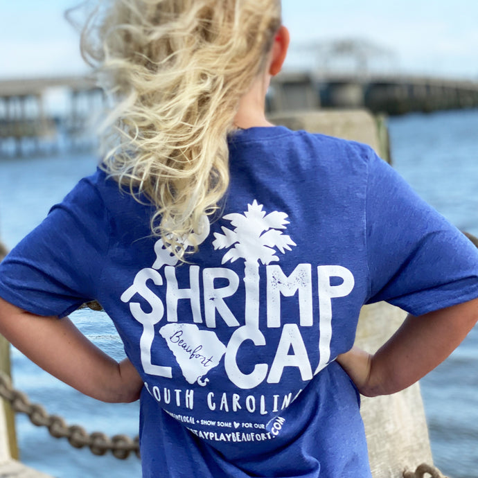 Shrimp Local Tee - 'Blue Crab' Blue