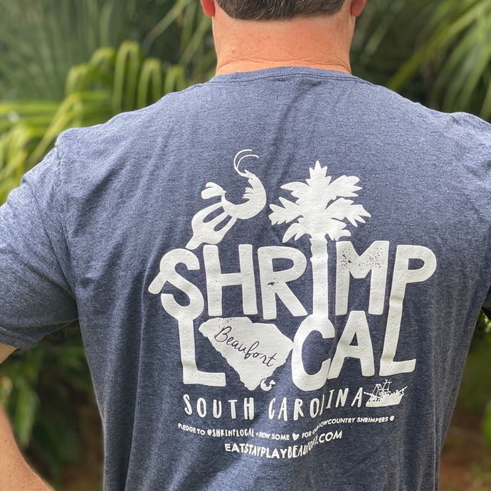 Shrimp Local Tee - 'Beaufort River' Blue