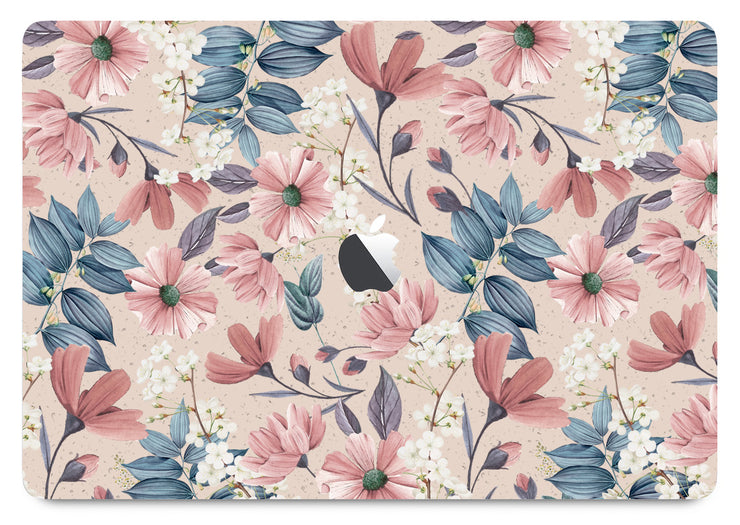 Fall flowers MacBook skin by Sarah Couture
