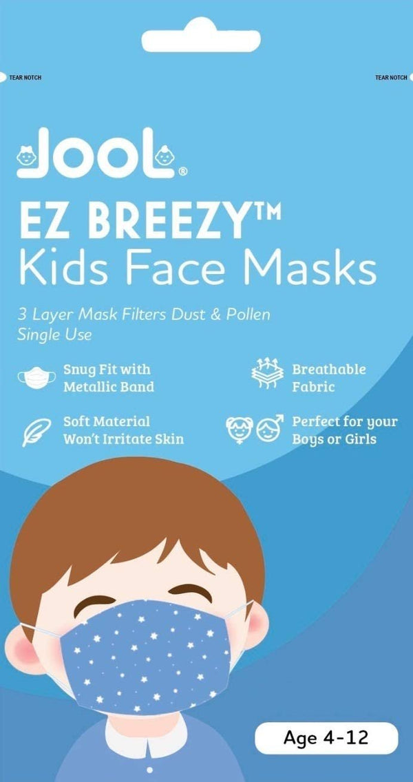 25 Pack EZ Breezy Kids Disposable Face Masks - Perfect Size for Children (Pink, 4-12 Years)