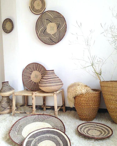 african wall decor and Tonga basket