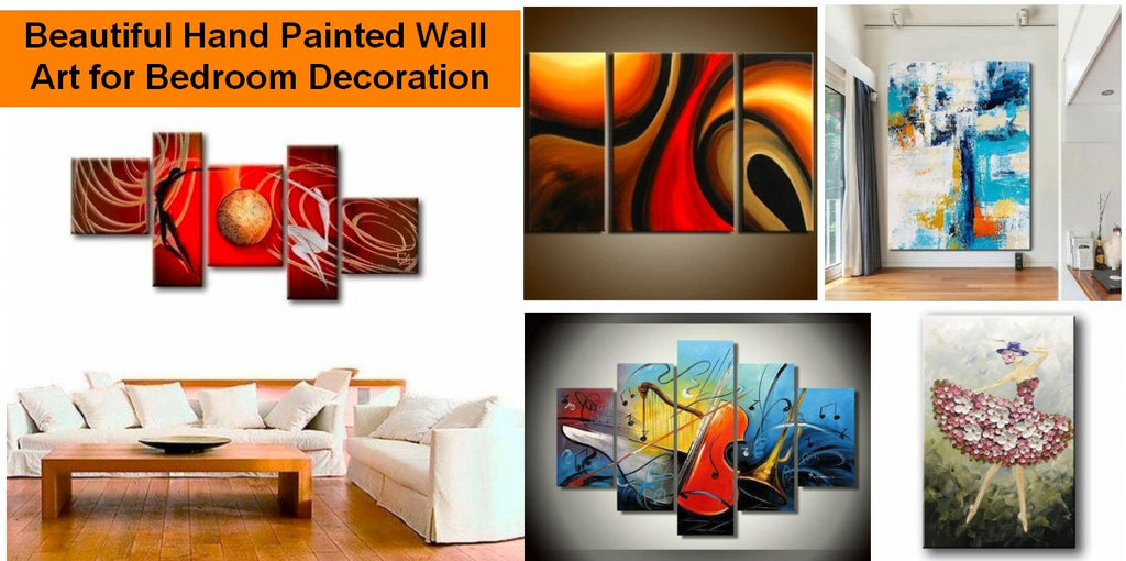 Canvas Painting for Bedroom, Acrylic Paintings for Bedroom, Large Modern Wall Art Paintings