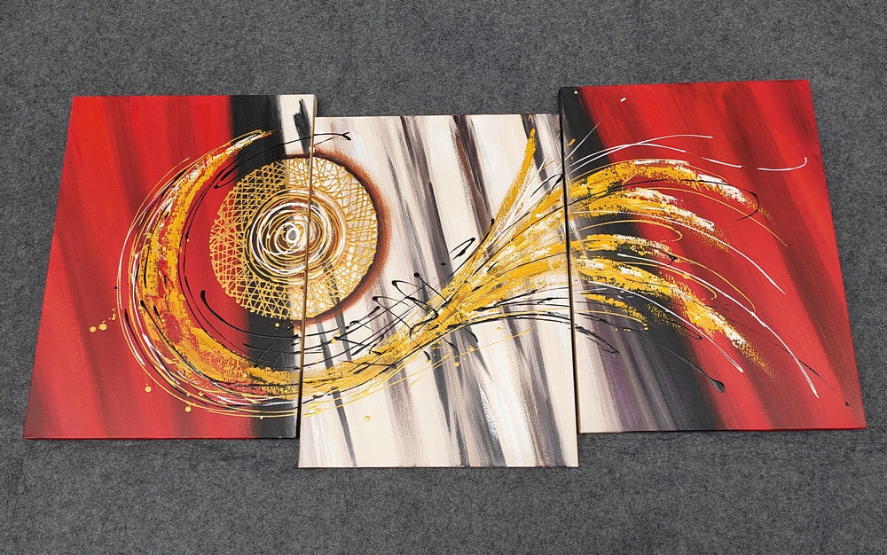 Painting Samples of Red Acrylic Painting, Hand Painted Canvas Painting, Buy Paintings Online