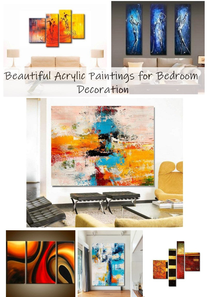 Bedroom Wall Art Painting, Bedroom Acrylic Paintings, Large Paintings for Bedroom, Modern Canvas Paintings