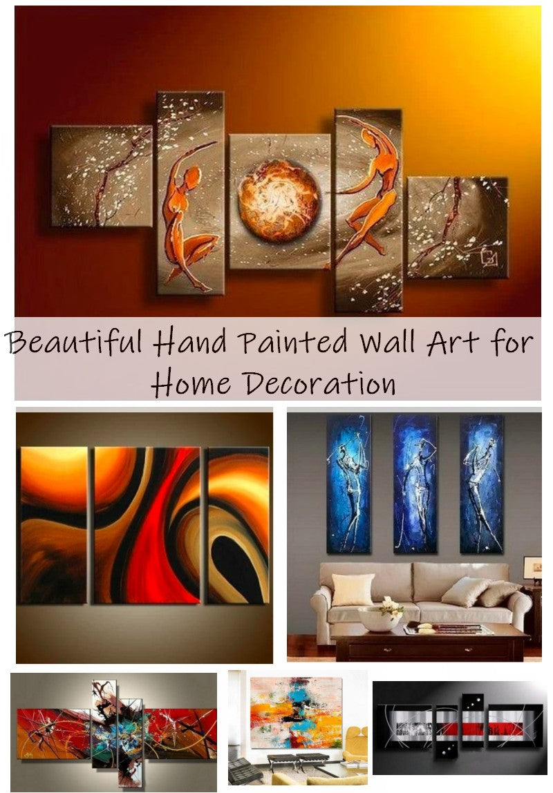 Bedroom Wall Art Paintings, 3 Piece Painting, Texture Paintings, Modern Paintings for Living Room, Abstract Acrylic Paintings