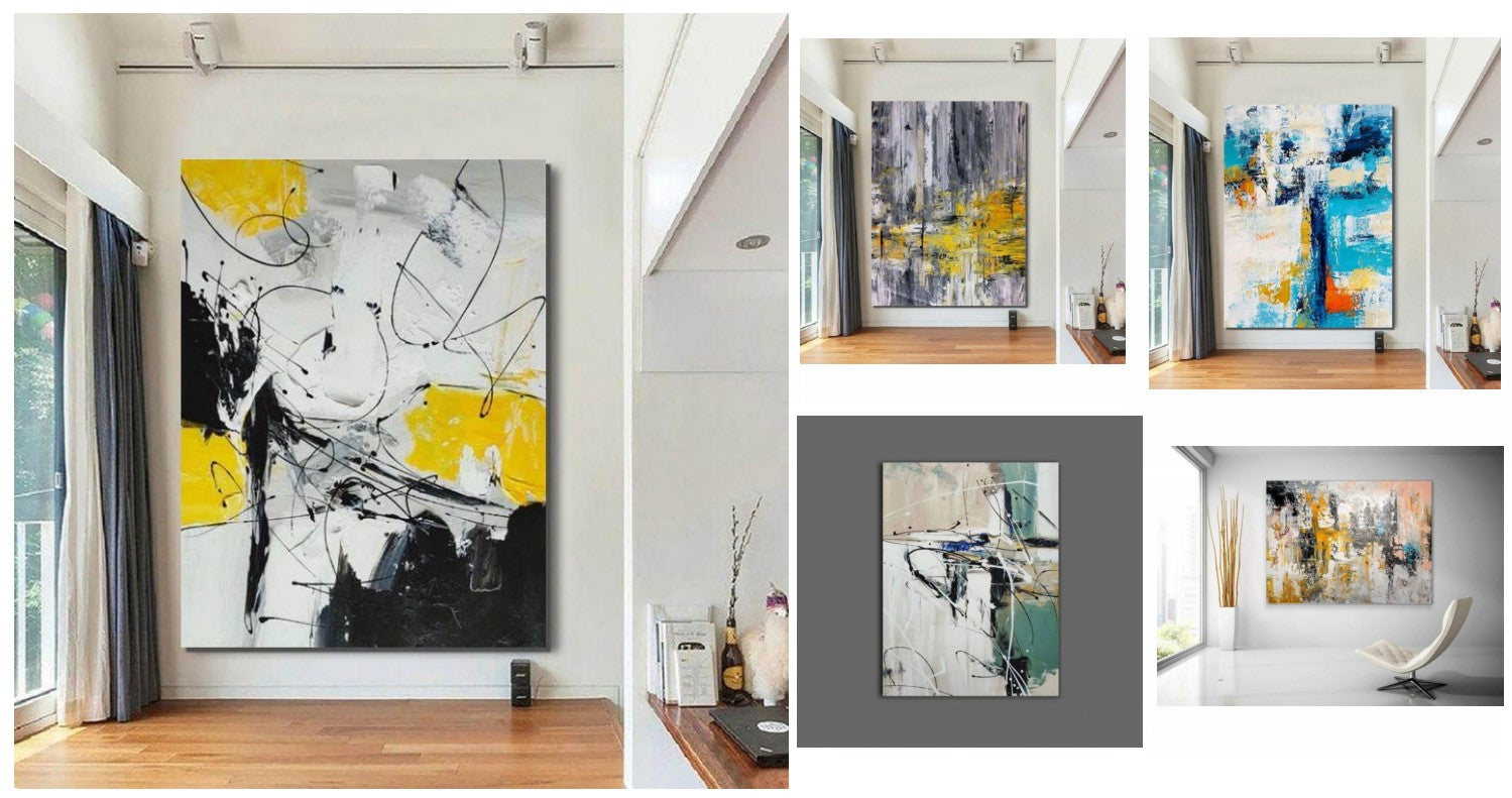 Easy Abstract Wall Art Ideas, Simple Acrylic Painting Ideas for Living Room, Original Modern Contemporary Wall Art Paintings, Buy Paintings Online