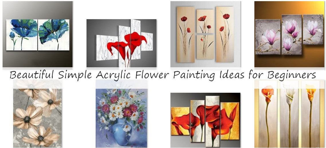 Beautiful Simple Acrylic Flower Painting Ideas for Beginners, Easy Flower Painting Ideas
