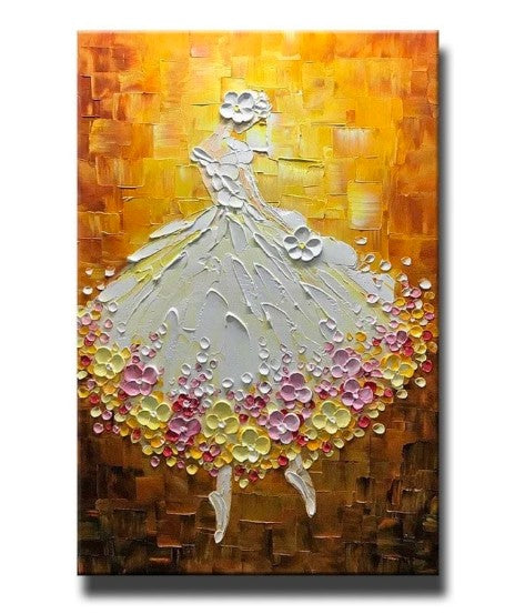 Palette Knife Artwork, Canvas Texture Paintings, Ballet Dancer Painting, Acrylic Texture Painting