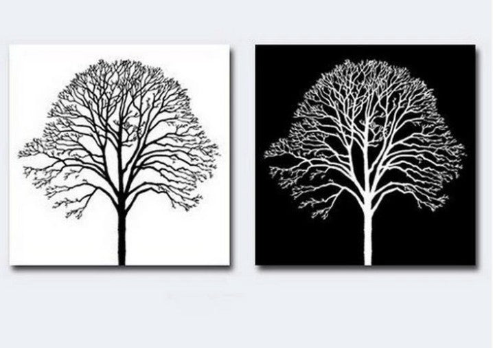 Black and White Wall Art Paintings, Abstract Wall Art Painting, Tree Wall Art Paintings, Acrylic Wall Paintings, Tree Paintings