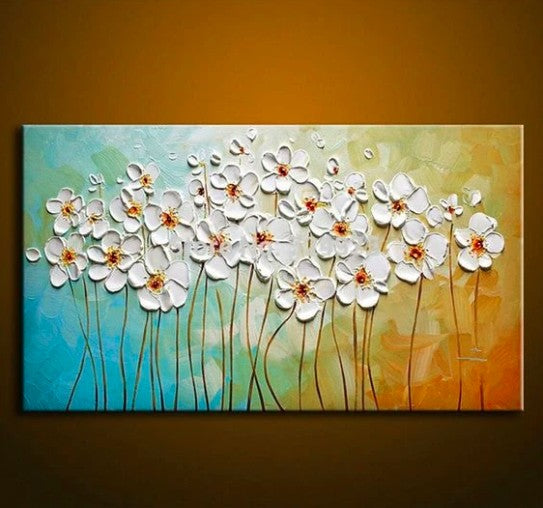 Acrylic Texture Painting, Flower Texture Paintings, Easy Texture Painting for Beginners, Simple Paintings Flower