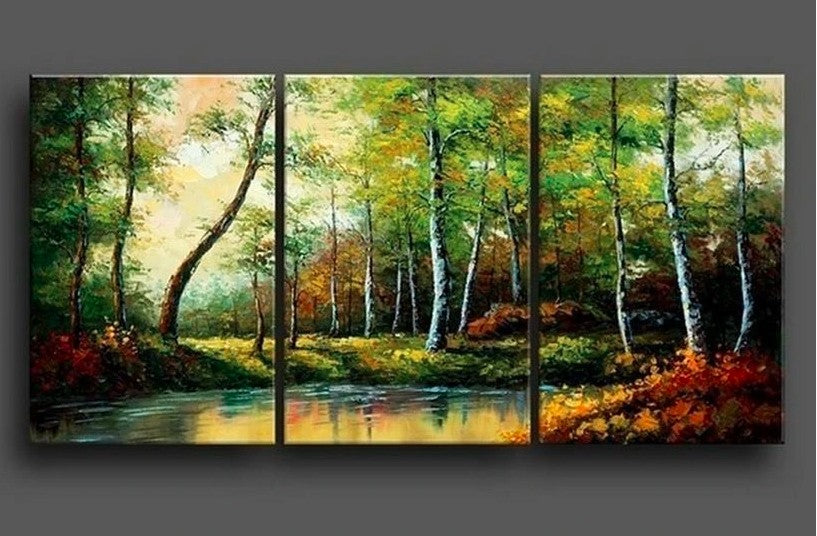 Beautiful Landscape Paintings, Abstract Painting Landscape, Acrylic Painting Landscape, Oil Painting Landscape, Forest Tree Painting