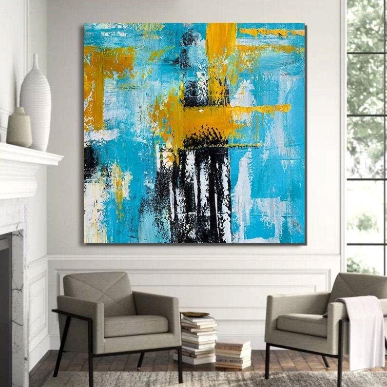 Acrylic Paintings for Bedroom, Living Room Wall Painting, Contemporary Modern Art, Simple Canvas Painting-ArtWorkCrafts.com