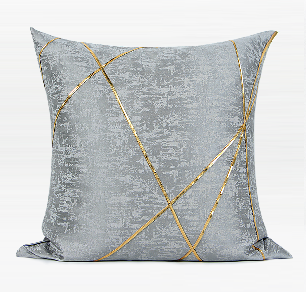 Gray Simple Style, Modern Throw Pillow, Pillow Cover with Insert, Sofa Pillows, Bedroom Pillows, Home Decor-ArtWorkCrafts.com