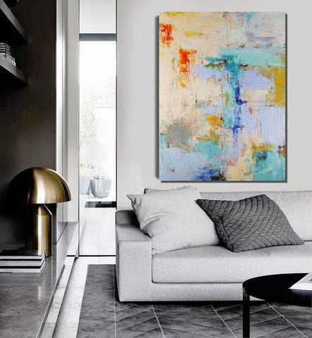 Abstract Acrylic Painting, Extra Large Paintings for Bedroom, Hand Painted Wall Painting, Modern Abstract Art-ArtWorkCrafts.com