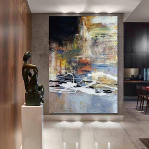 Wall Art Paintings, Hand Painted Acrylic Painting, Huge Abstract Painting, Extra Large Paintings for Living Room-ArtWorkCrafts.com