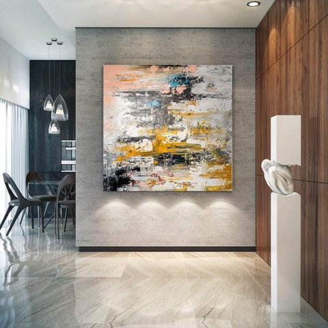 Abstract Acrylic Wall Painting, Extra Large Paintings for Living Room, Hand Painted Wall Painting, Modern Abstract Art-ArtWorkCrafts.com