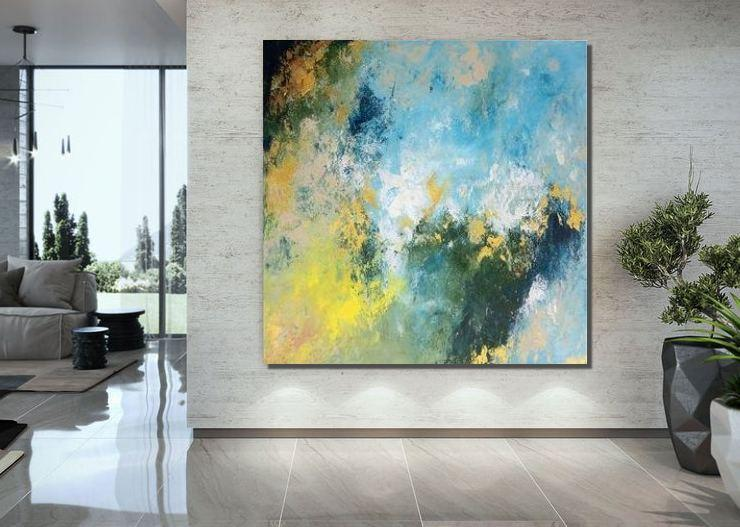 Extra Large Paintings for Bedroom, Abstract Acrylic Wall Painting, Modern Canvas Painting-ArtWorkCrafts.com