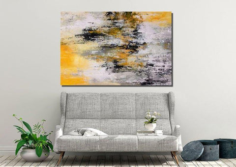 Acrylic Painting for Living Room, Modern Wall Art Painting, Large Contemporary Abstract Artwork-ArtWorkCrafts.com