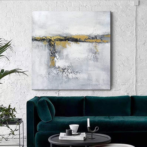Acrylic Painting for Dining Room, Living Room Wall Painting, Contemporary Wall Painting, Modern Artwork, Large Canvas Painting-ArtWorkCrafts.com