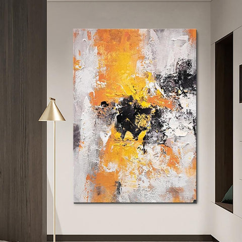 Abstract Acrylic Paintings for Living Room, Modern Contemporary Artwork, Buy Paintings Online, Heavy Texture Canvas Art-ArtWorkCrafts.com