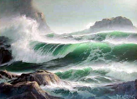 Seascape Art, Hand Painted Art, Canvas Art, Rough Water, Big Wave, Canvas Painting, Large Wall Art, Large Painting, Canvas Oil Painting, Canvas Wall Art-ArtWorkCrafts.com