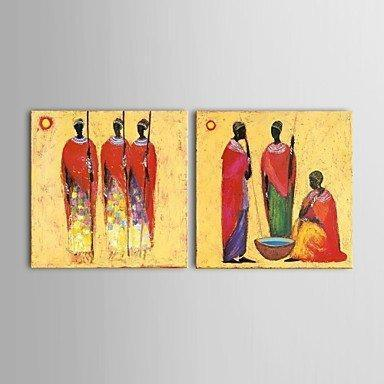Acrylic Canvas Painting, African Woman Painting, Dining Room Canvas Painting, Buy Paintings Online-ArtWorkCrafts.com