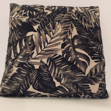 Coussin Palmettes anthracite