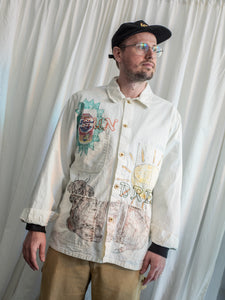 XL - STS x TCP Reworked Workwear Chore Jacket - Hand Drawn & Embroidered