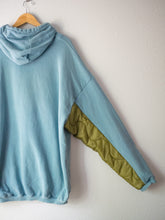 Load image into Gallery viewer, Reworked Liner Hooded Sweatshirt - Muted Blue (2XL Unisex)