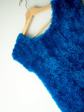 Load image into Gallery viewer, Vintage 90s Fluffy Blue Top (S)