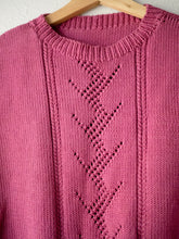 Load image into Gallery viewer, Vintage Raspberry Knit Vest (S)
