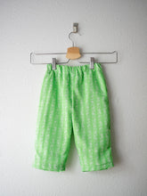 Load image into Gallery viewer, (SIZE 2) - Reworked Vintage Fabric Pants, Green Strawberries - TCP Mini