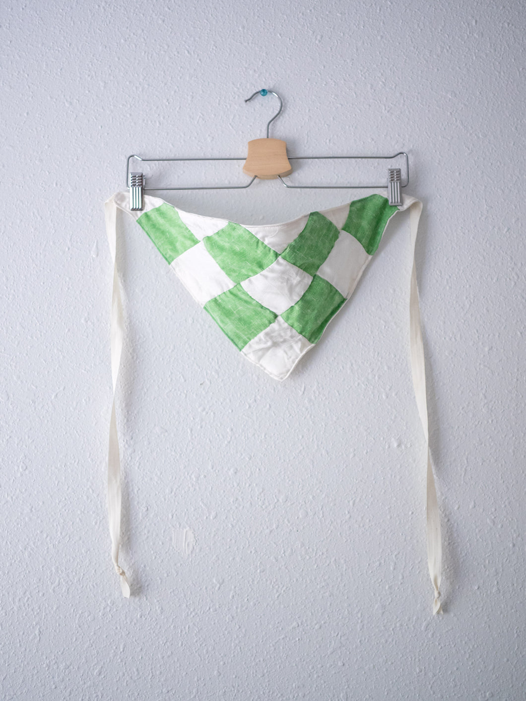 Patchwork Checkered Head Scarf - Green