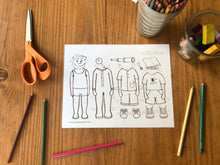 Load image into Gallery viewer, Martin & Sylvia Printable Paper Dolls