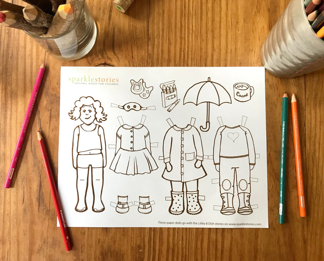 Libby & Dish Printable Paper Dolls