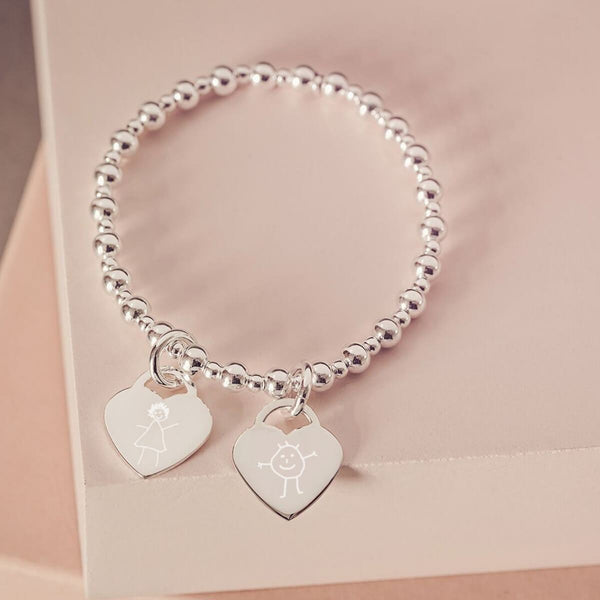 Children's Drawing Silver Bracelet