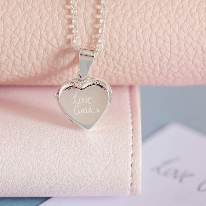 Handwriting Heart Locket