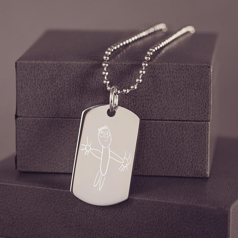 Childrens Drawing Dog Tag