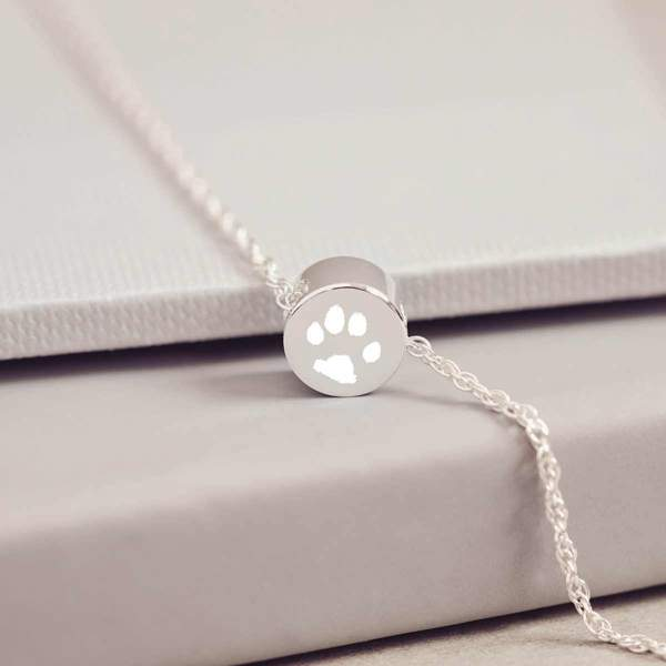 Family Necklace, One Pawprint Charm