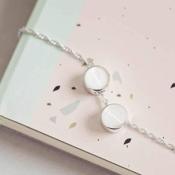 Family Necklace, Two Fingerprint Charms
