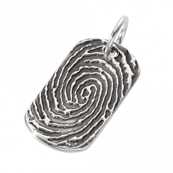 Fingerprint Dog Tag Charm