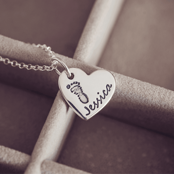 Footprint Charm Necklace