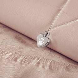 Handprint or Footprint Ashes Locket