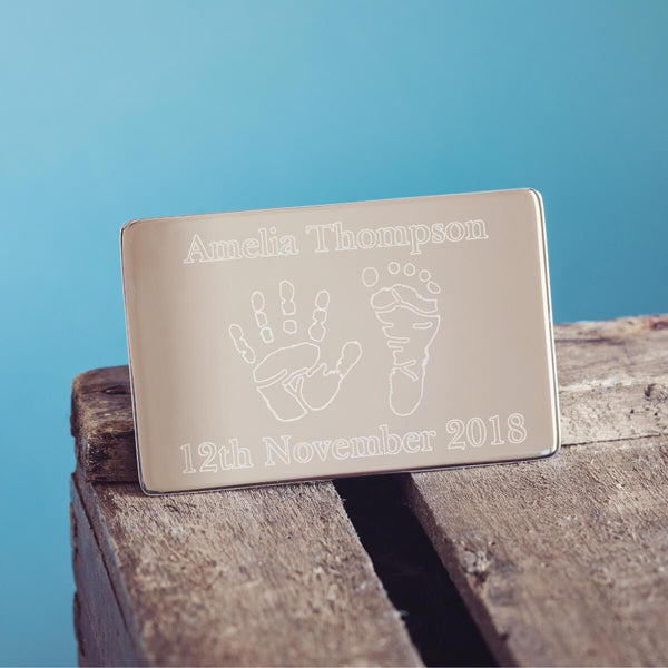 Handprint Wallet Card